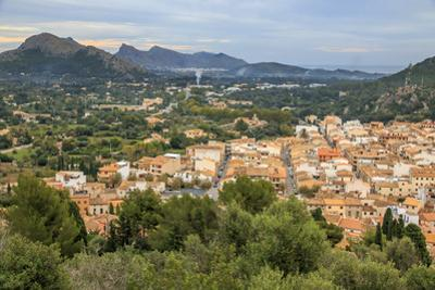 Spain, Balearic Islands, Mallorca, Pollenca. Town landscape. by Emily Wilson