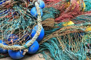 Spain, Balearic Islands, Mallorca, Santanyi, Cala Figuera. Small, colorful fishing harbor by Emily Wilson