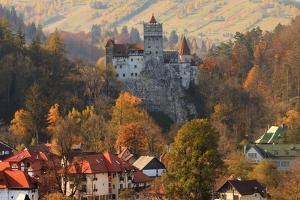 Transylvania, Historic gothic castle in autumn. by Emily Wilson