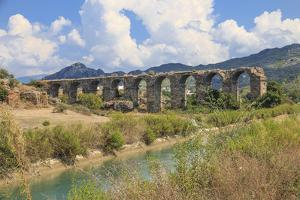 Turkey, Anatolia, Antalya, Aspendos Aqueduct over River Eurmedon. by Emily Wilson