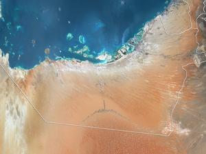Emirate of Abu Dhabi, Satellite Image