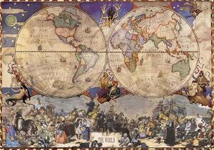 Emisferi (Hemispheres)- Antique World Map