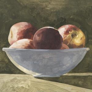 Bowl of Peaches II by Emma Caroline