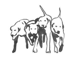 Dogs on a Jog II by Emma Caroline