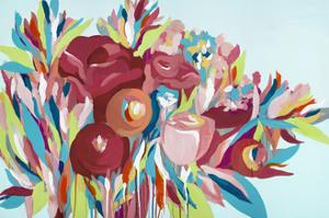 Bouquets on Blue by Emma Jones