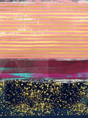 Abstract Gold and Purple Study by Emma Moore