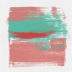 Abstract Indian Red and Emerald by Emma Moore