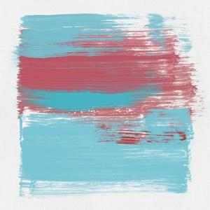 Abstract Light Blue and Cerise by Emma Moore