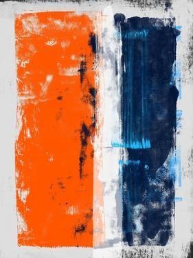 Abstract Orange and Blue Study by Emma Moore