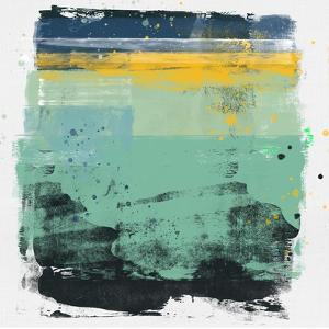 Abstract Sage Green and Yellow Study by Emma Moore
