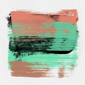 Abstract Tangerine and Green Study by Emma Moore