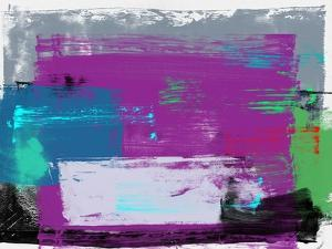 Abstract Violet Color Study by Emma Moore