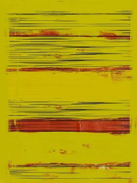 Abstract Yellow and Red Study by Emma Moore