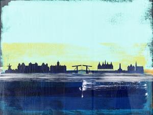 Amsterdam Abstract Skyline II by Emma Moore