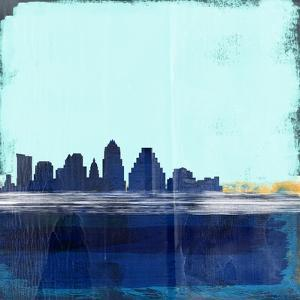 Austin Abstract Skyline I by Emma Moore