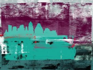 Austin Abstract Skyline II by Emma Moore