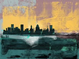 Baltimore Abstract Skyline I by Emma Moore