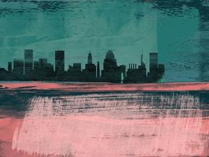 Baltimore Abstract Skyline II by Emma Moore