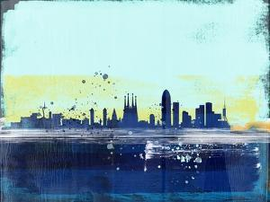 Barcelona Abstract Skyline by Emma Moore