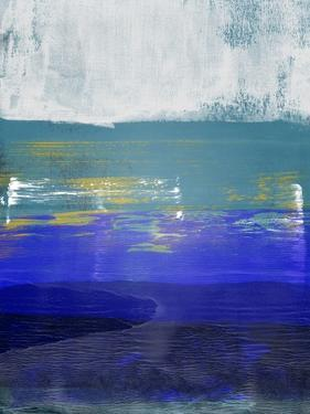 Blue and Light Gray Abstract Study by Emma Moore