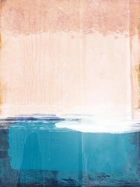 Blue and Peach Abstract Study by Emma Moore