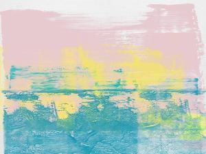 Blush Pink Abstract Horizon by Emma Moore