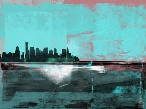 Boston Abstract Skyline I by Emma Moore