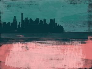 Boston Abstract Skyline II by Emma Moore