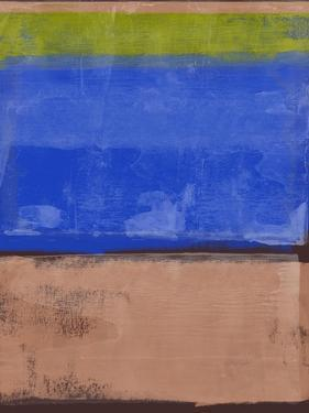 Cider and Blue Abstract Study by Emma Moore
