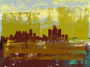 Detroit Abstract Skyline I by Emma Moore