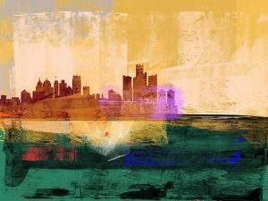 Detroit Abstract Skyline II by Emma Moore