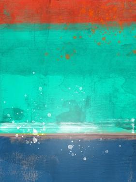 Emerald and Blue Abstract Study by Emma Moore