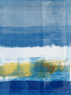 Gold and Blue Abstract Study I by Emma Moore