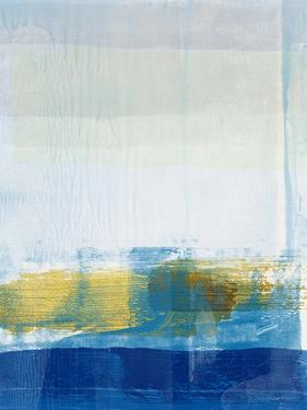 Gold and Blue Abstract Study by Emma Moore