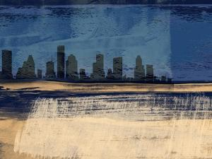 Houston Abstract Skyline I by Emma Moore