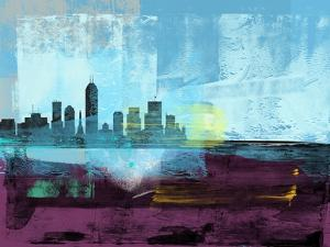 Indianapolis Abstract Skyline I by Emma Moore