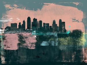 Kansas City Abstract Skyline I by Emma Moore