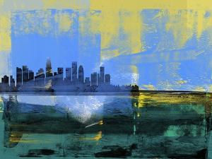 Los Angeles Abstract Skyline I by Emma Moore