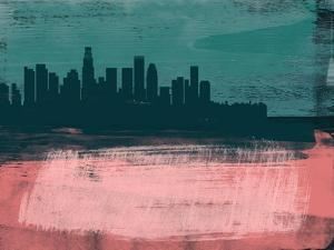 Los Angeles Abstract Skyline II by Emma Moore