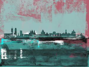 Madrid Abstract Skyline by Emma Moore