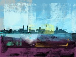 Munich Abstract Skyline I by Emma Moore