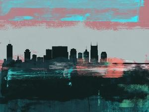 Nashville Abstract Skyline I by Emma Moore