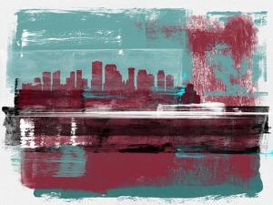 New Orleans Abstract Skyline I by Emma Moore