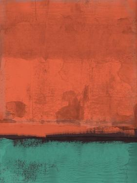 Orange and Jade Abstract Study by Emma Moore