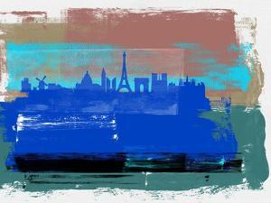 Paris Abstract Skyline I by Emma Moore
