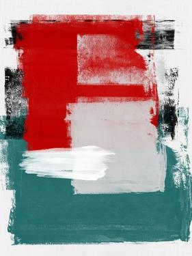 Red and Green Abstract Study by Emma Moore