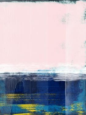 Rose Sky and Navy Blue Abstract Study by Emma Moore