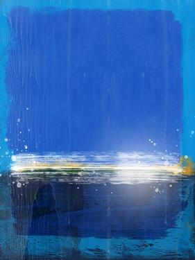 Royal Blue Abstract Study by Emma Moore