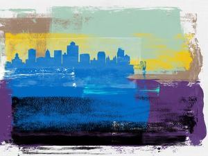 Salt Lake City Abstract Skyline II by Emma Moore