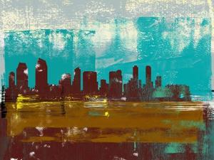 San Diego Abstract Skyline II by Emma Moore